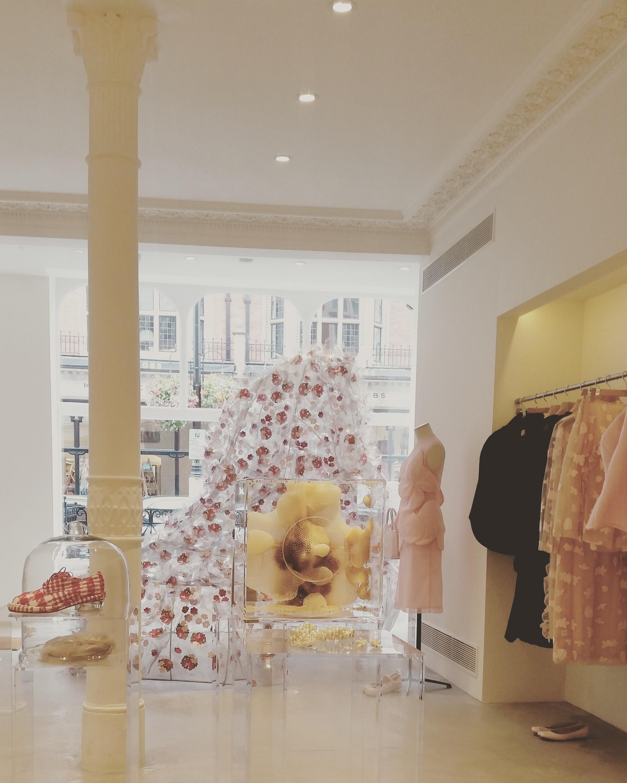 Simone Rocha's first shop:93 Mount Street, London, W1K 2SY // The window sculpture is a collaboration between Simone Rocha and artist Janina Pedan