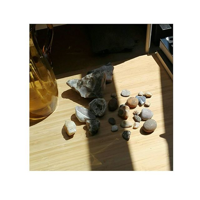 Stone collection, Chesil beach #hoarder