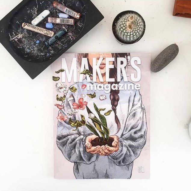"""""""  What a surreal moment for this small emerging artist. The first time to see your work and website     in print.   Thank   you   @makersmovement  for choosing to work with me and supporting my dream."""" - @lindsay__king"""