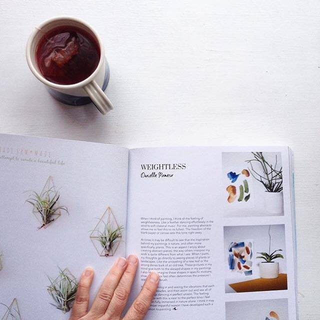 """""""Ah, time for a break.   Reading the wonderful I   ssue 1 of  @makersmovement    magazine - Mother Nature, an inspiration indeed."""" - @bymeeni"""