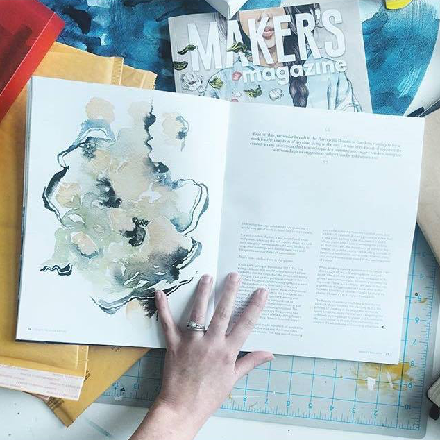 """""""  It's HERE!!!! My copies of Issue     1 of     #makersmagazine  arrived today and I'm floating on air. So honored to be included in such a beautiful publication (the paper is gorgeous!!!) with so many talented makers!!!""""    -  @ellen_the_lemon"""