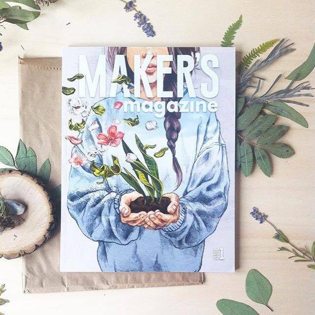 """""""  Yesterday my Maker's Magazine arrived! It's so exciting to see the amazing work of so many talented makers and artists printed.Congrats to the Maker's Movement team for creating this gorgeous magazine, it's really stunning!  Oh and I highly recommend to order your own copy before they're gone."""" - @rekersdreesdesign"""