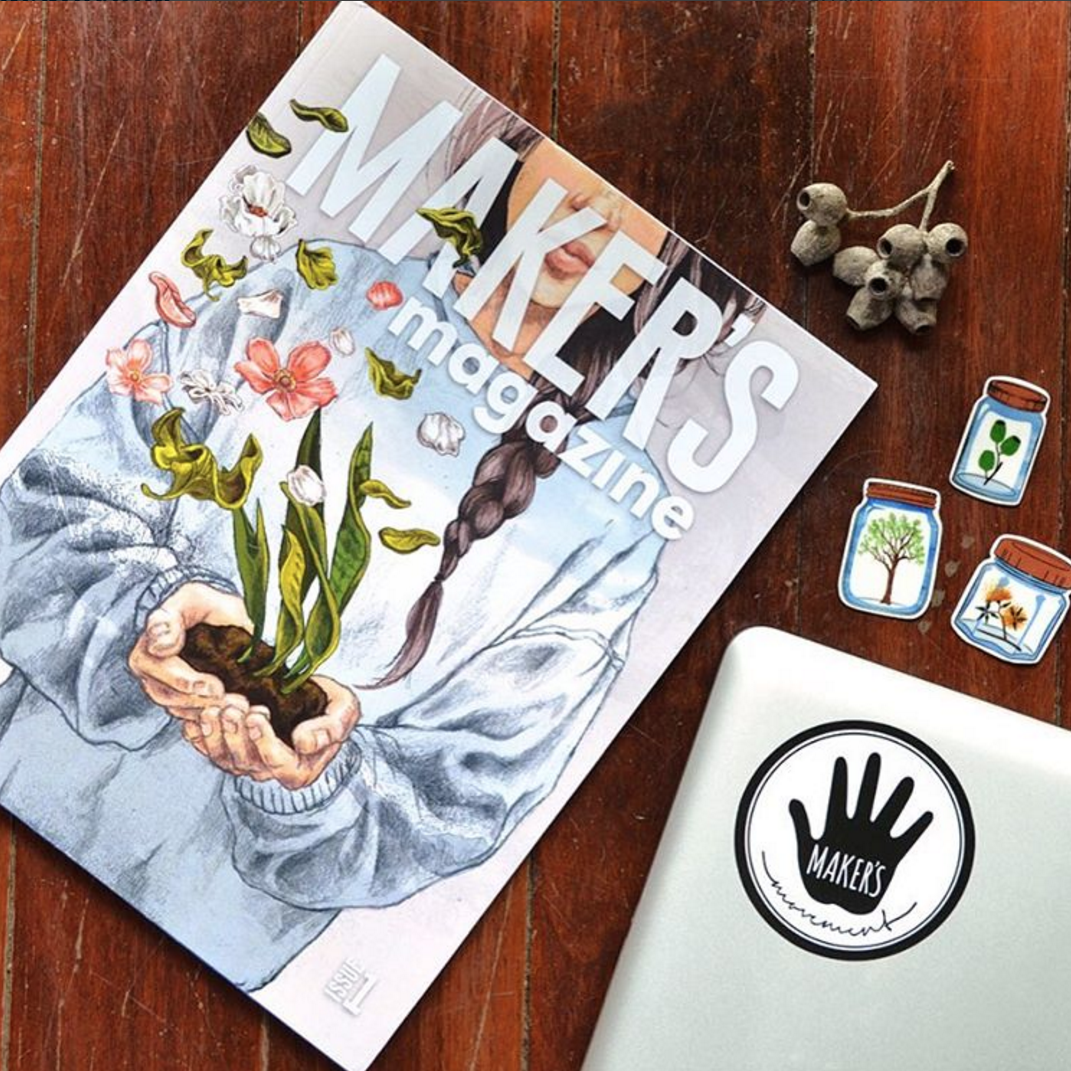 """""""  Well done    @ makersmovement   .  #makersmagazine  is beautifully curated and I feel lucky to be apart of your first issue. """" - @bindyjames"""
