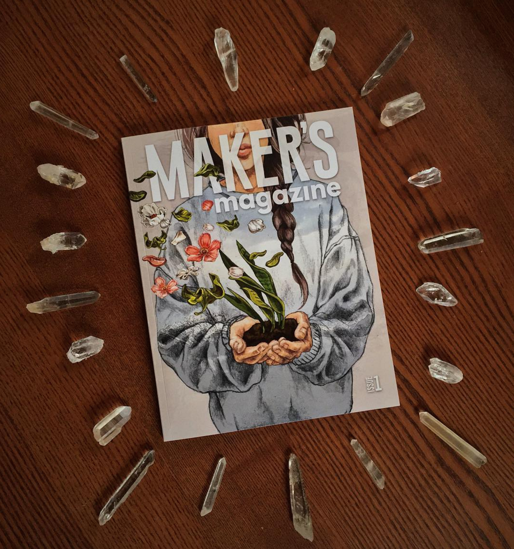 """""""  Check out   @makersmovement  's first issue     of   #makersmagazine  to read your Makerscope (creativity + horoscope) — an original art/astrology collab between   @linienliebe  and The Dragonfly Continuum.    """" - @thedragonflycontinuum"""