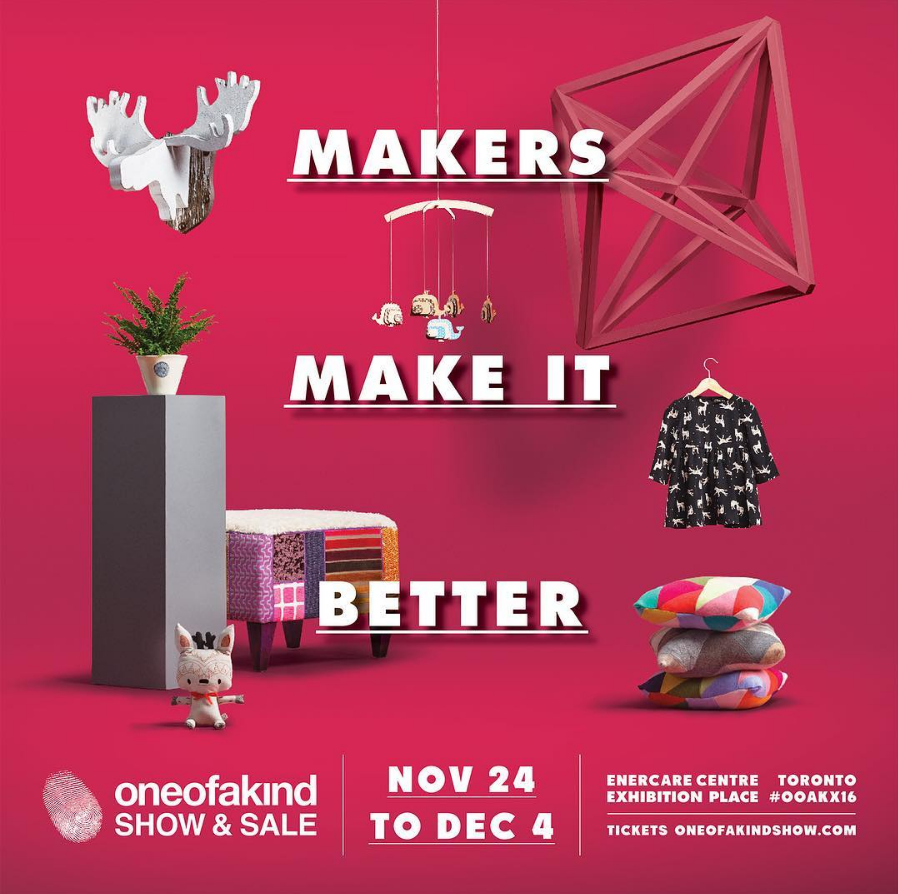 ONE OF A KIND SHOW & SALE:  Nov. 24 - Dec. 4, Enercare Centre, Toronto.  We'll be hosting a giveaway for OOAK tickets on the  @makersmovement  feed in a couple weeks... Stay tuned!