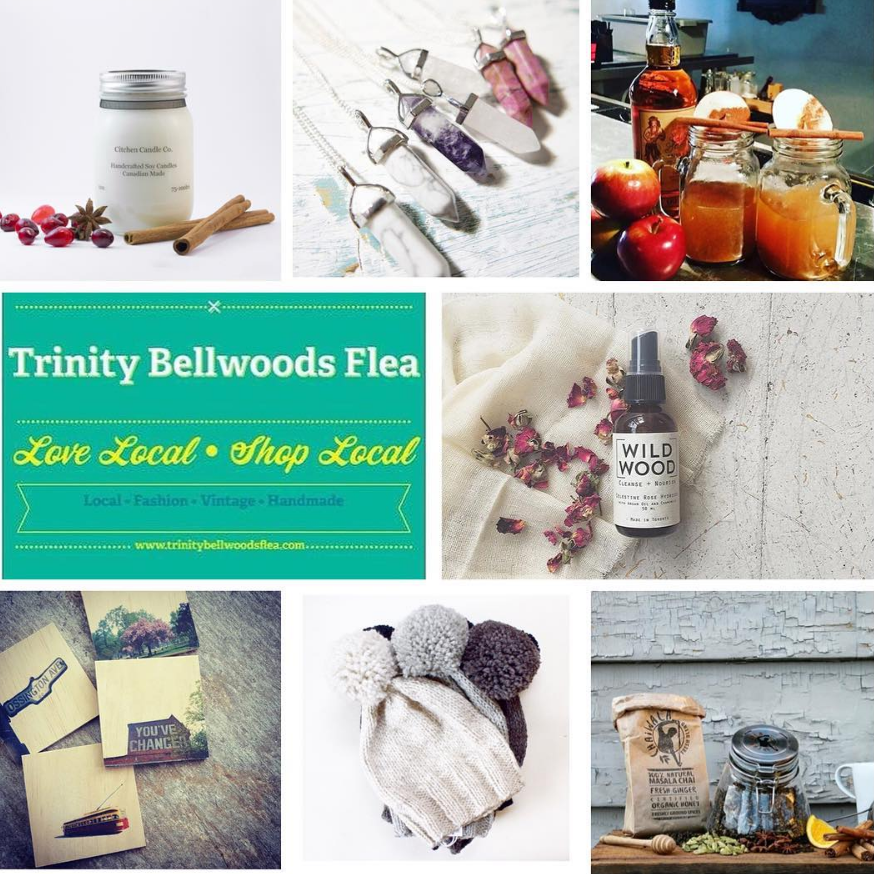 TRINITY BELLWOODS FLEA:  Nov. 19 & 20th, 11AM-6PM, Trinity Bellwoods, Toronto.    A monthly curated market that connects local shoppers with Toronto's top  fashion, vintage, handmade, home decor and food vendors.