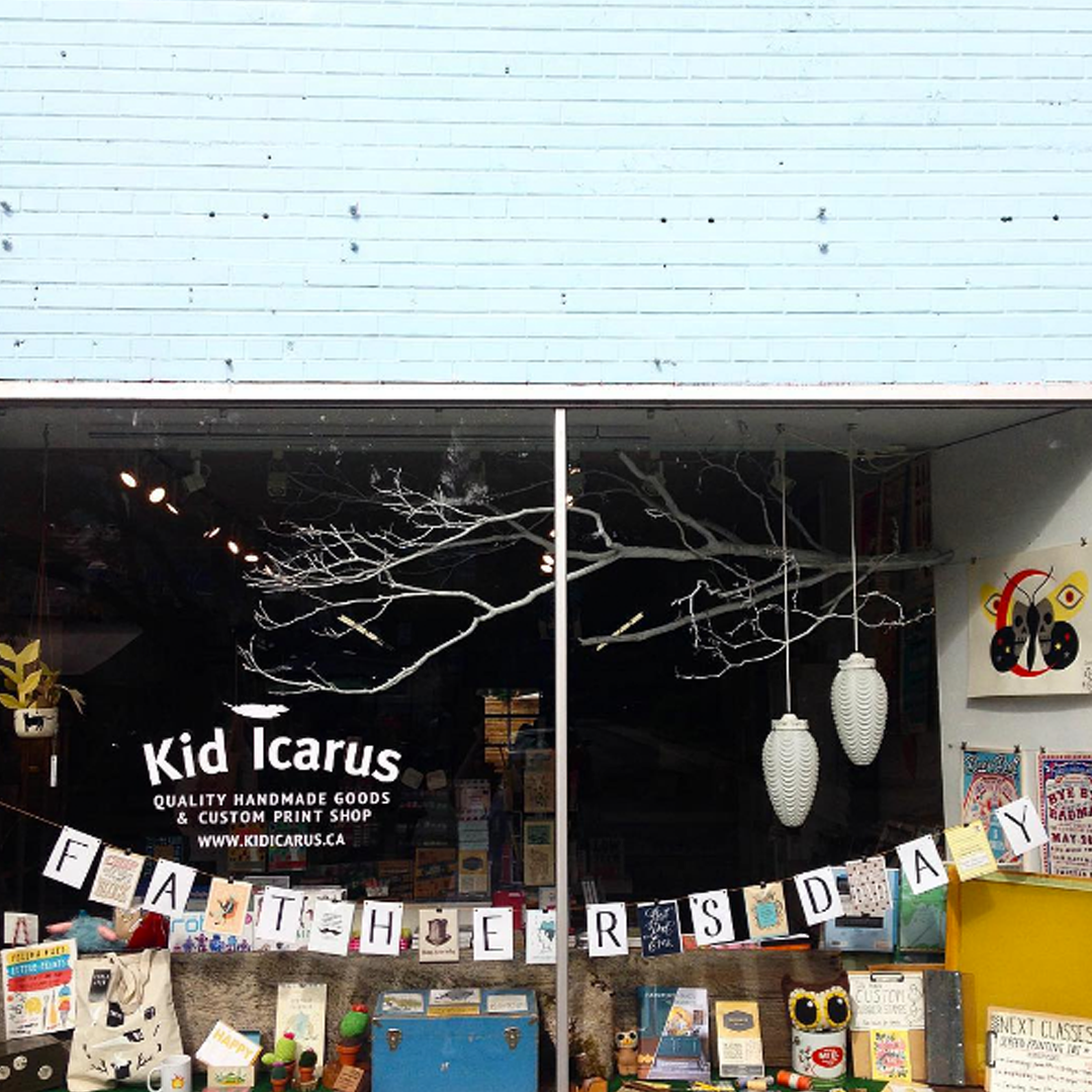 KID ICARUS : 205 Augusta Ave., Toronto  Dedicated to finding the best in indie contemporary craft, Kid Icarus takes pride in representing locally made items with the highest quality standards.