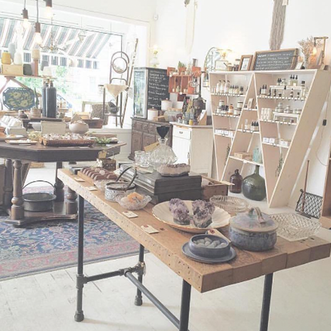ROWAN : 2196 Queen St. East, Toronto   ROWAN offers a curated selection of organic skincare and folk remedies, alongside bohemian inspired vintage decor, crystals, incense and burnables, local ferments, raw honey, and natural fibers.