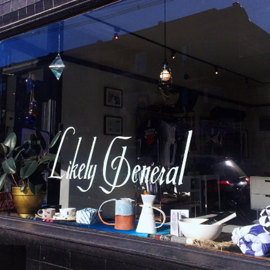 LIKELY GENERAL : 389 Roncesvalles Ave., Toronto   Eclectic home decor, handmade goods & edible gifts like honey & preserves in a bright, spare shop.