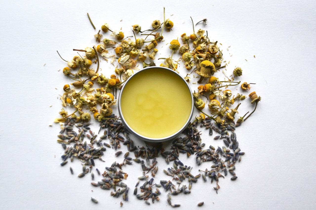 Gathered and Grown's  Calm Balm , an aromatherapy stress reducer salve.