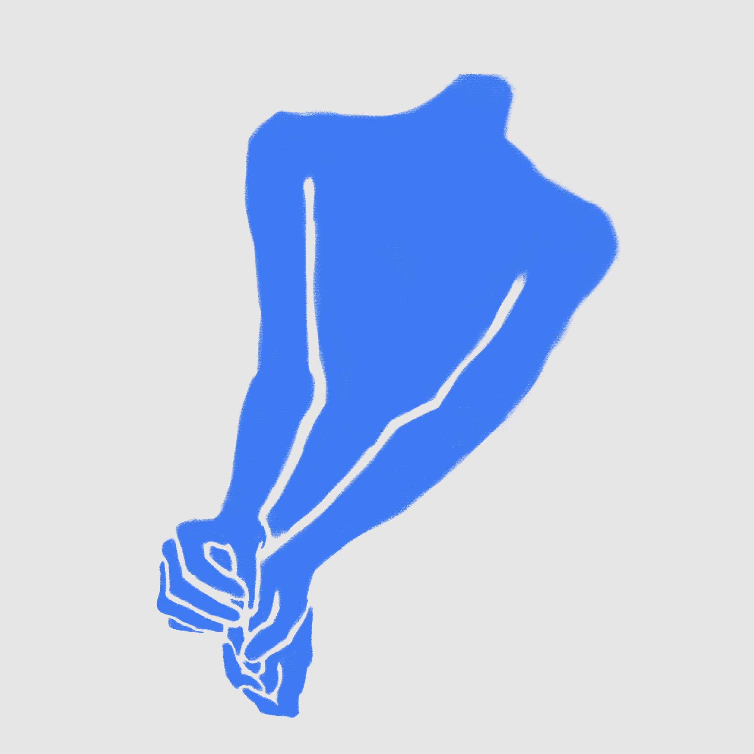 Blue Hands