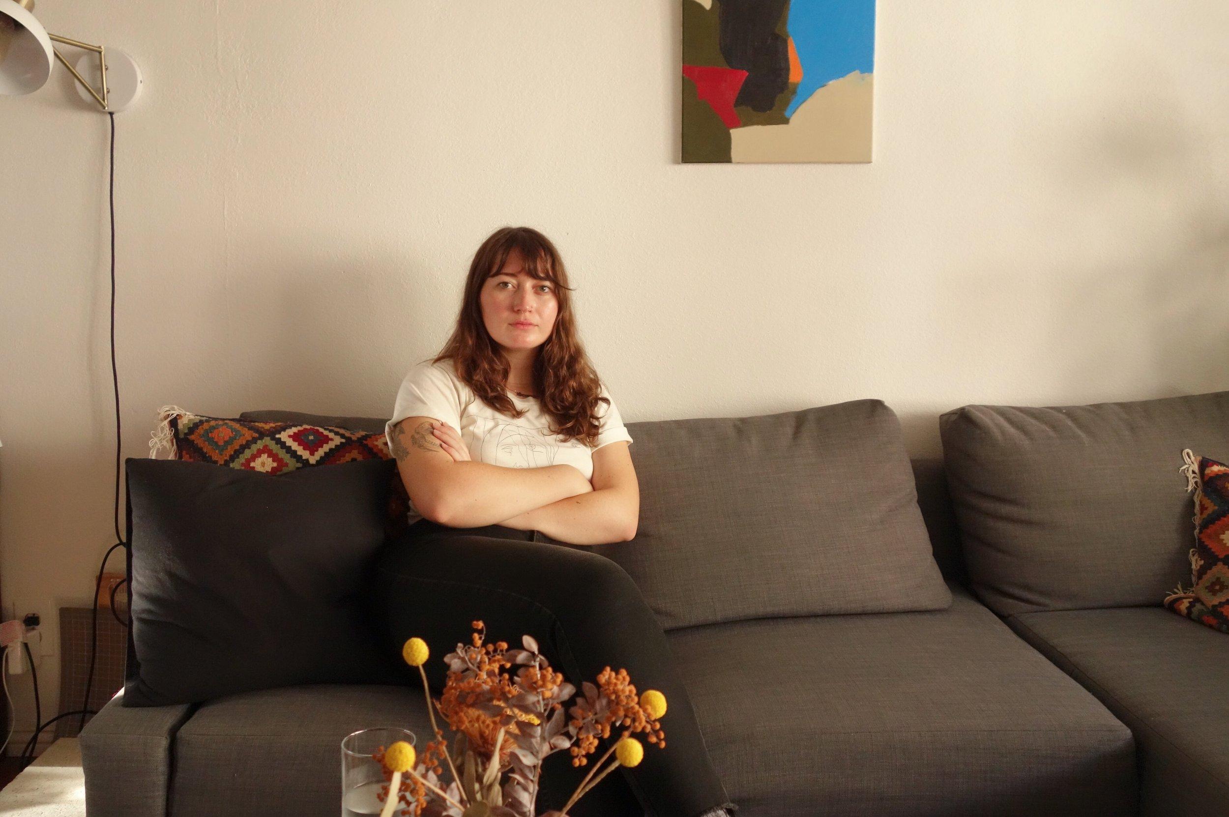 Alyssa M. Julian in her Silverlake, CA, apartment