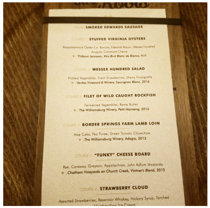 True to Our Roots Wine Dinner