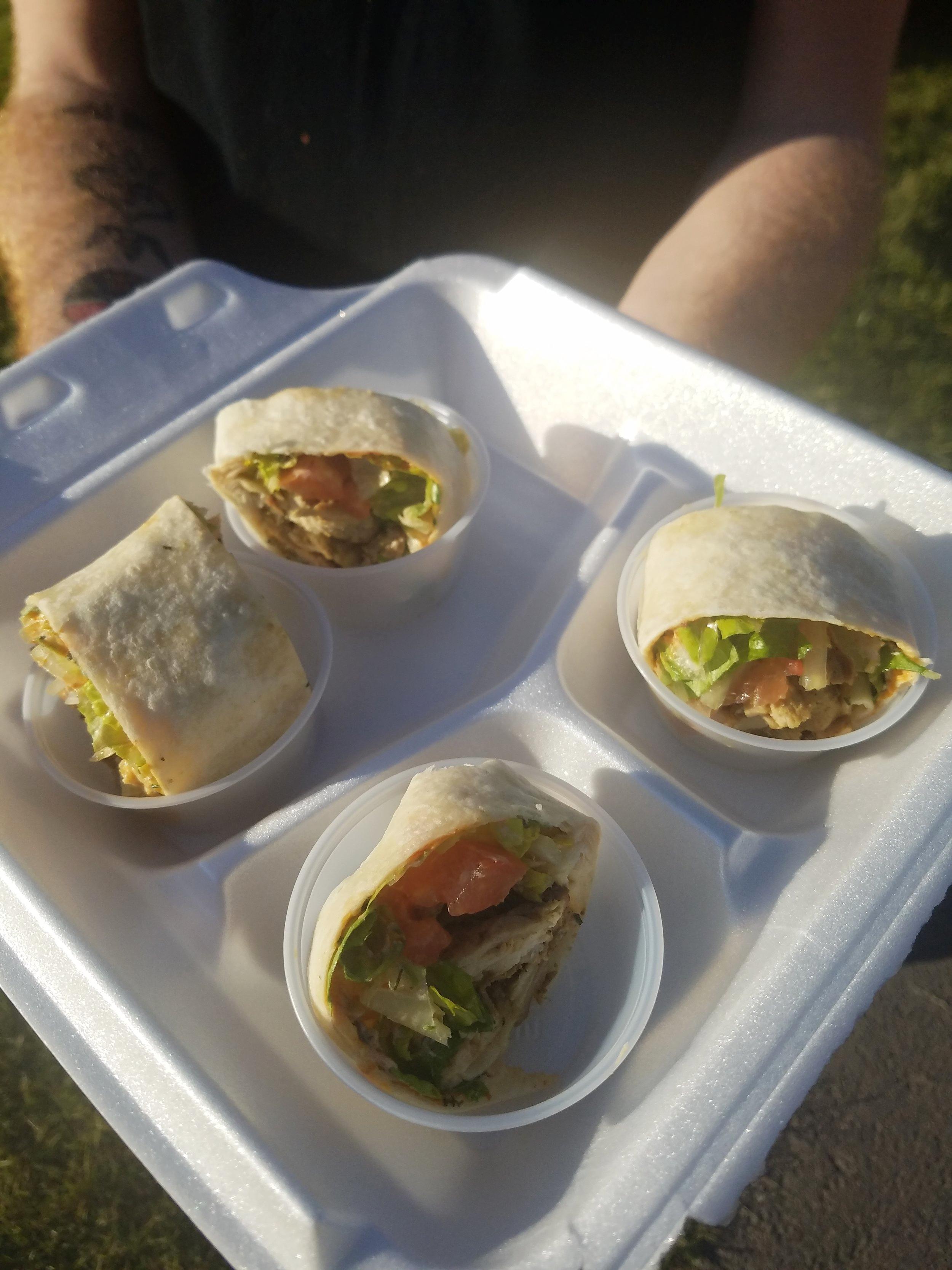 4 Spices Mediterranean Food Chicken Shawarma Tortilla Wraps