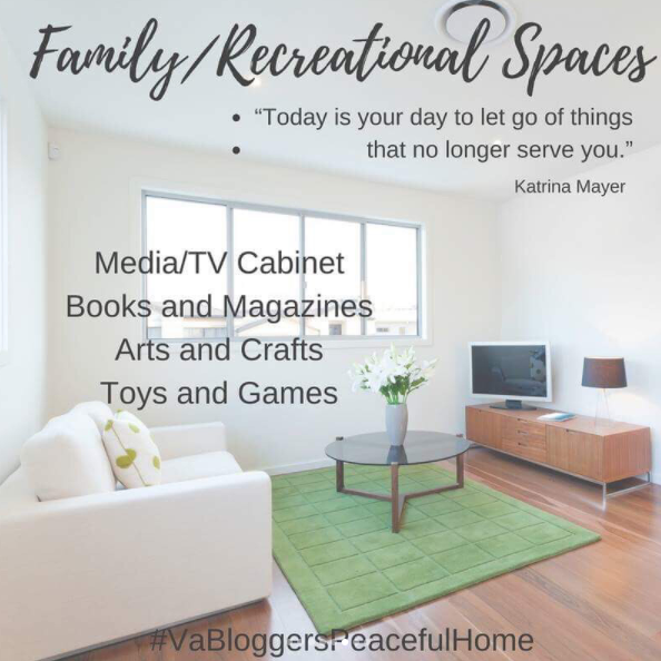 VA Bloggers Peaceful Home Organization Family Recreational Spaces
