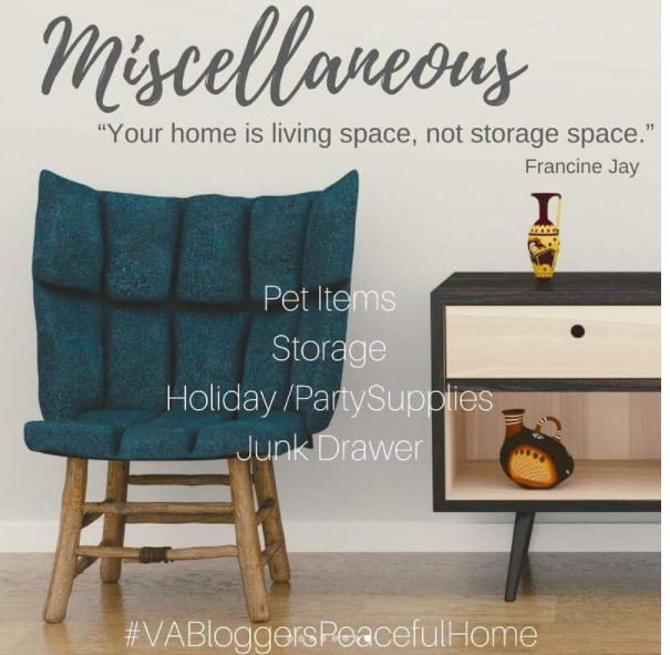 VA Bloggers Peaceful Home Organization