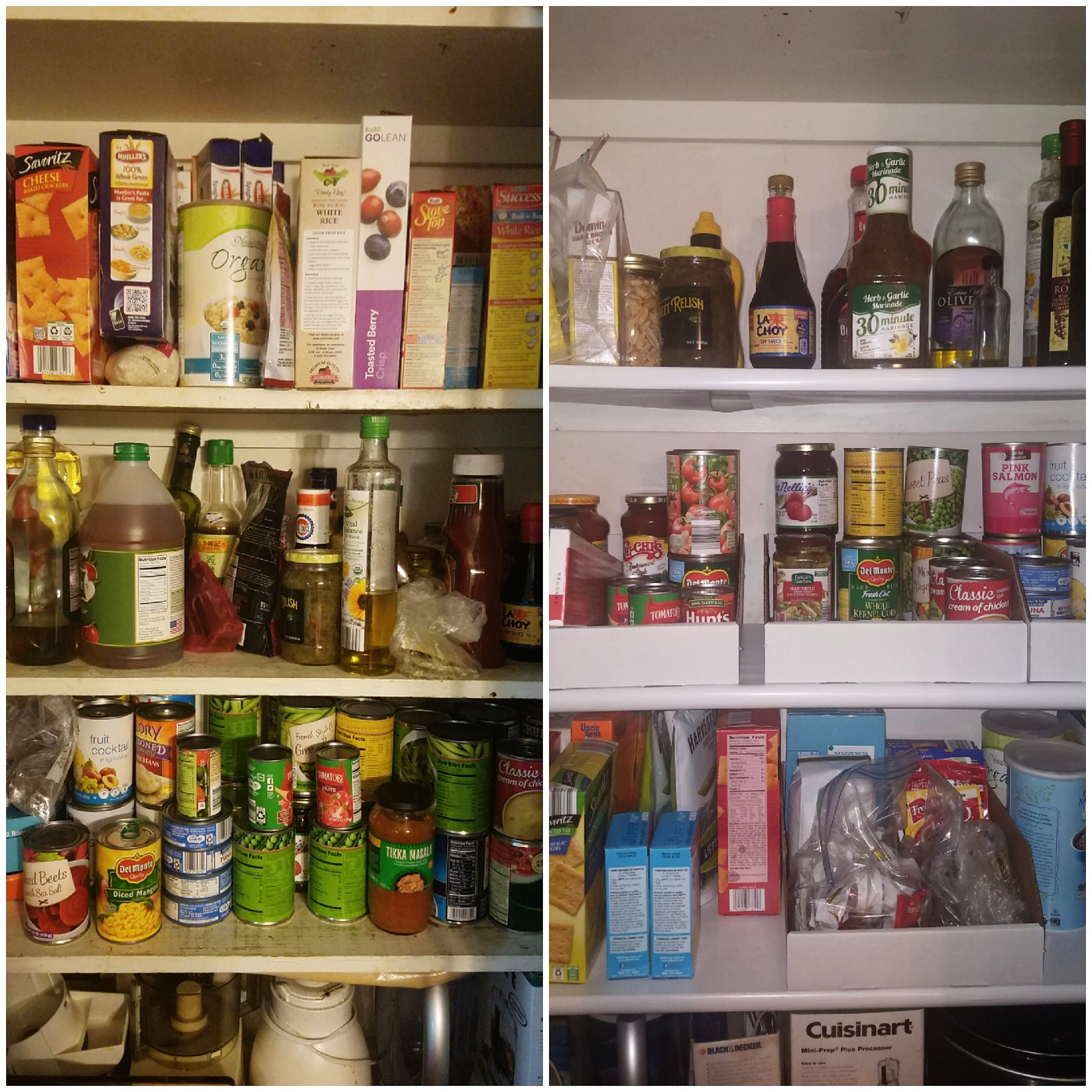 Kitchen Pantry Organization Before and After Peaceful Home