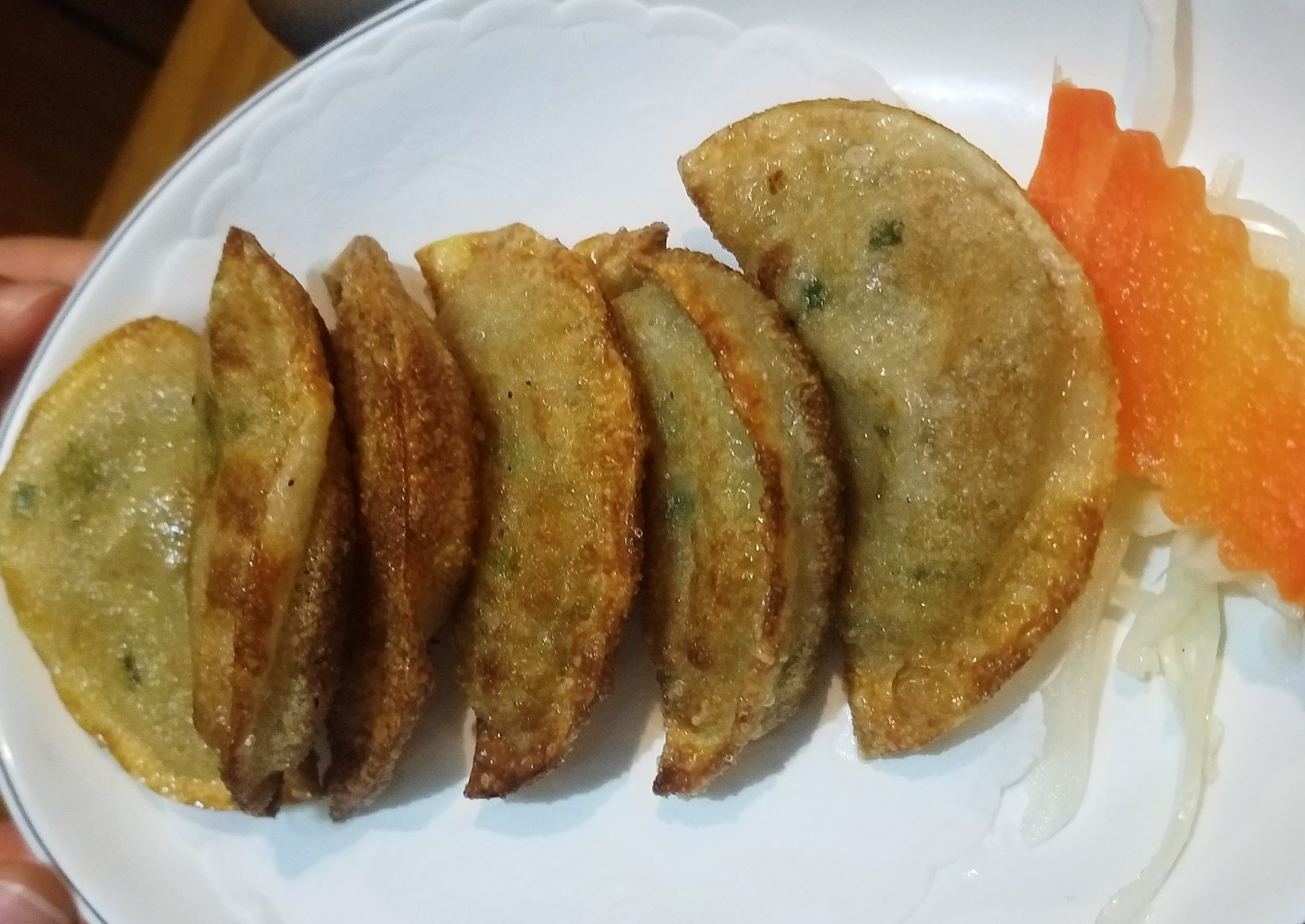 Korean BBQ Yaki Mandu Pan Fried Dumplings