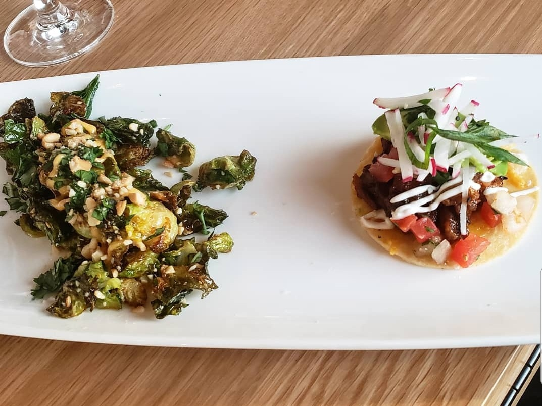 Coopers Hawk  Brussel Sprouts and Pork Belly Tostados