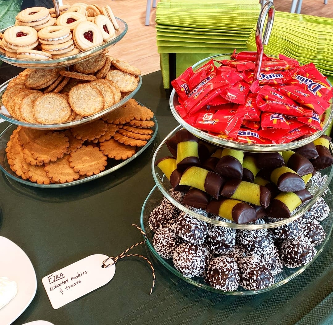 Fika: Assorted cookies and treats