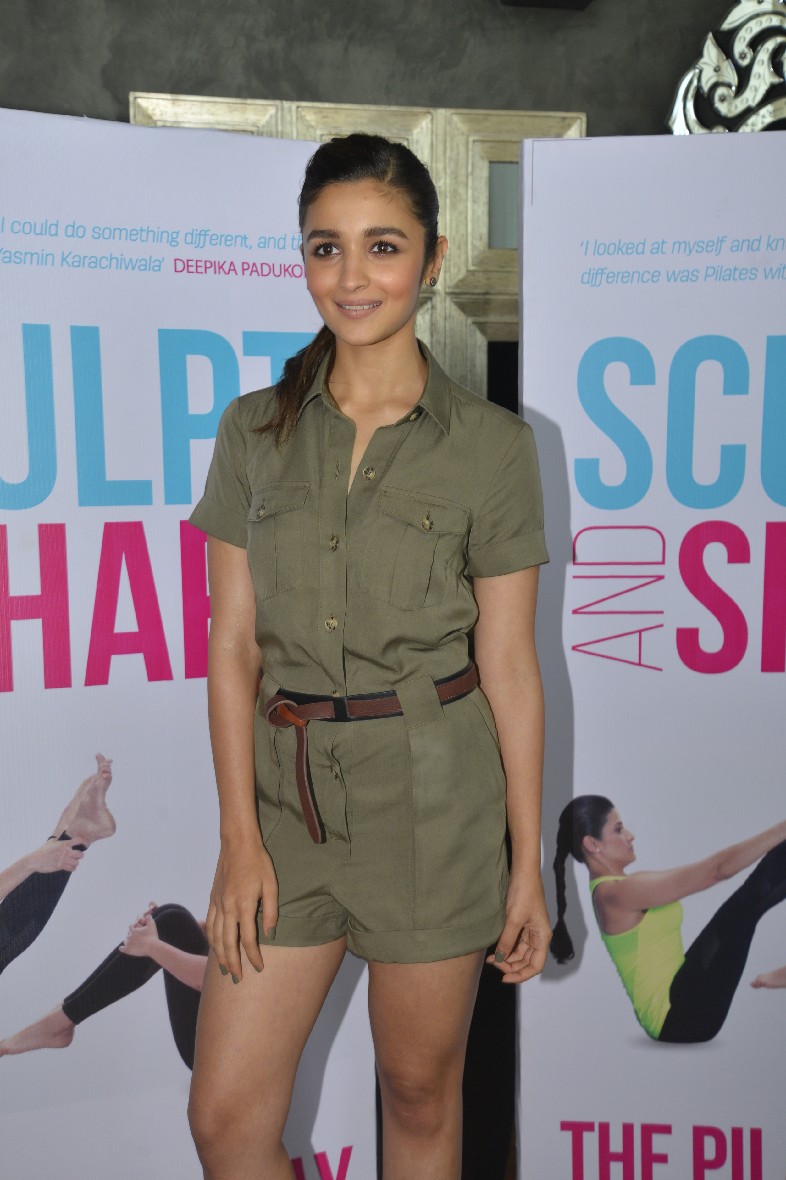 """Alia Bhatt     """"I have only been doing Pilates for 8 months and I've seen a massive change in my core strength, so imagine when I do it for longer. Pilates is all about the hand eye coordination and focus. You have to mentally be very present to do it right, there is not a single point where your core is at ease, you have to keep it activated at all time, but that comes with lots of practice.    A special room at Body Image is dedicated only to Pilates, which is made up of all the necessary and extremely fascinating Pilates equipment. We have the REFORMER which is multitalented cause you can use it for 3 different types of workouts, then there's the WUNDA CHAIR which is as fun as the name suggests and then comes my favourite which is CORE ALLIGN - which is again as the name suggests the best thing for your CORE  """""""