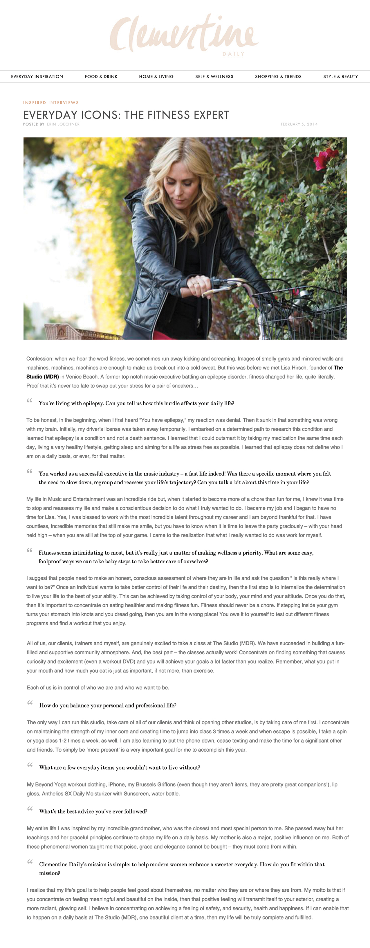 Clementine article, Feb 14