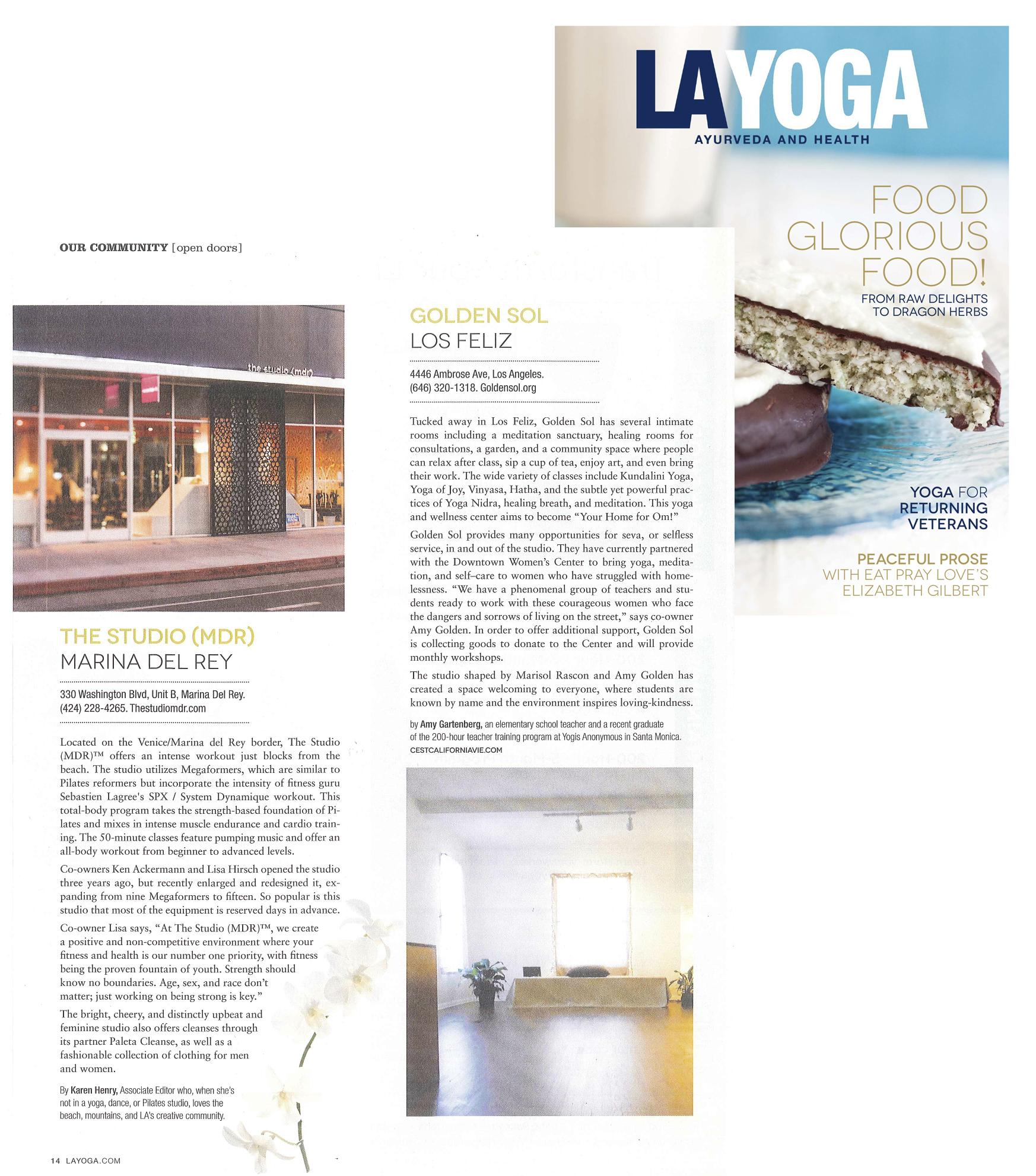 LA Yoga article