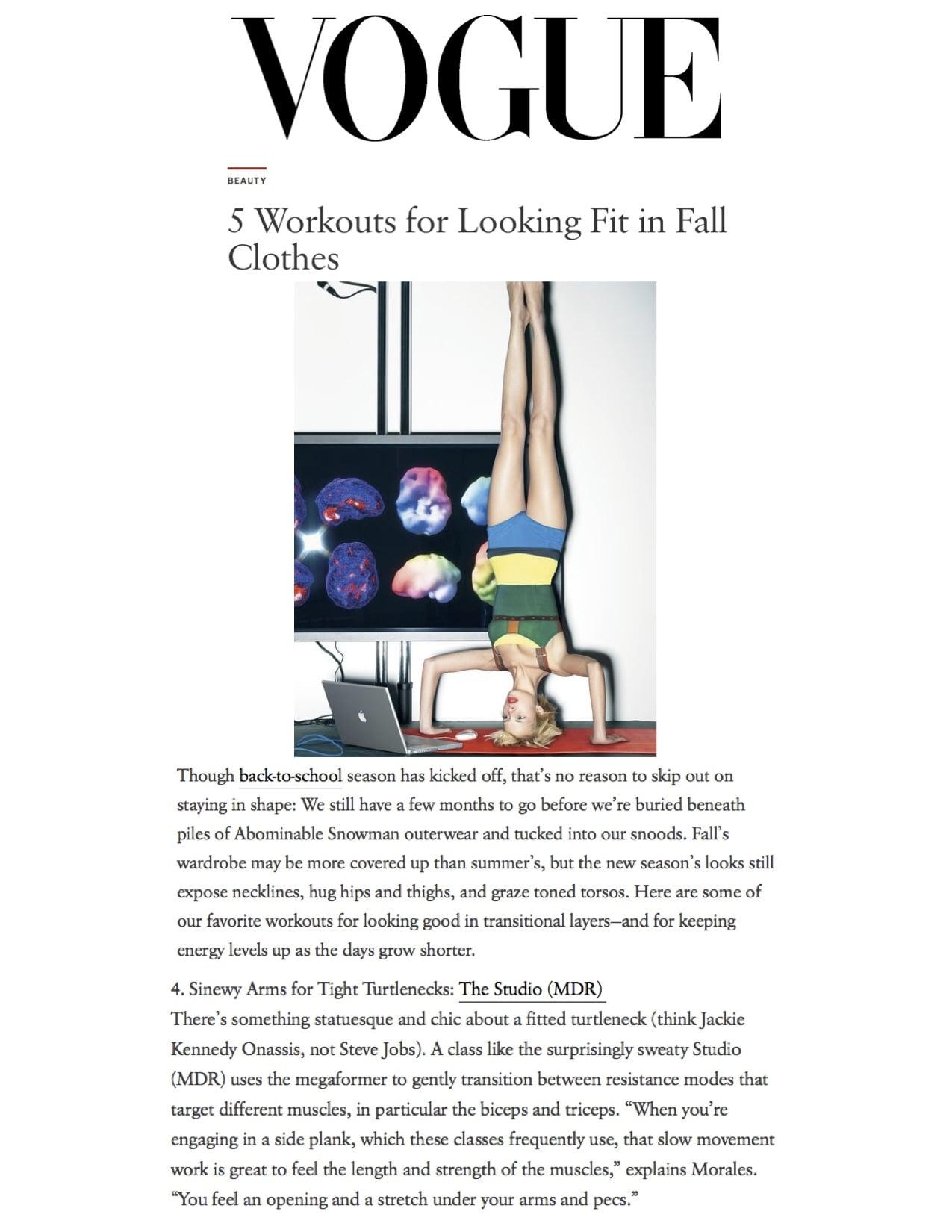 Vogue article, Sept 15