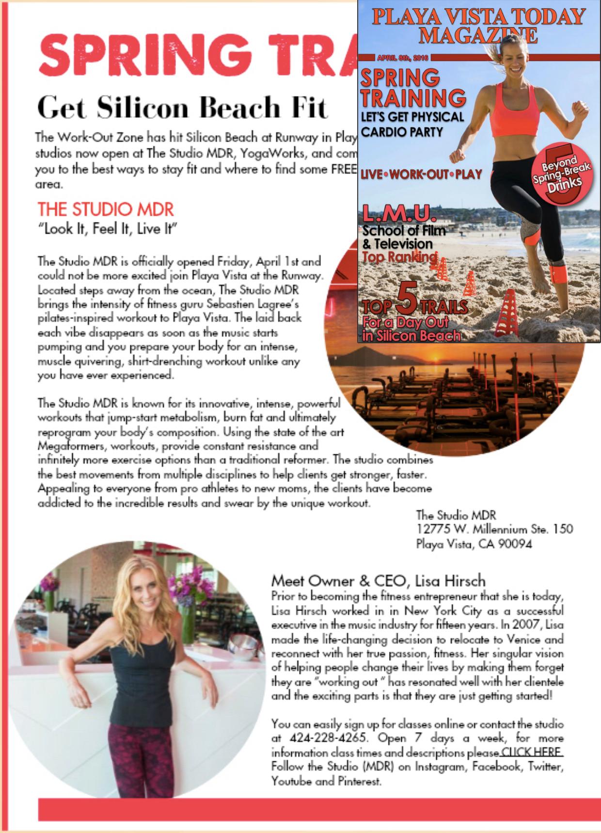 Playa Vista Today article, April 2016
