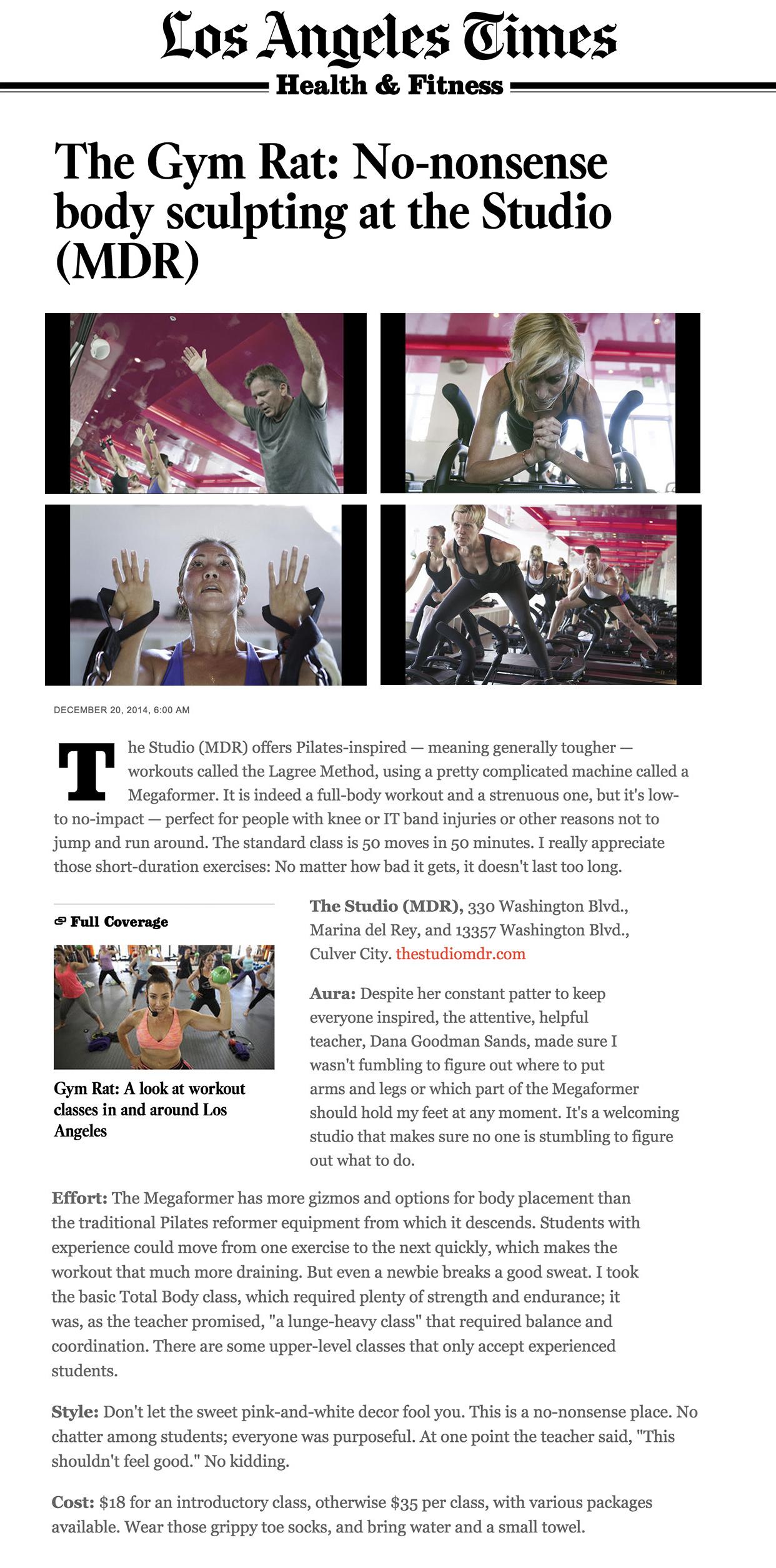 LA Times article, Dec 14