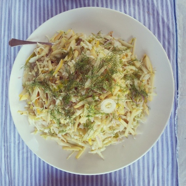 Last one from the beautiful wedding today at Wattle Grove, fennel & pear coleslaw