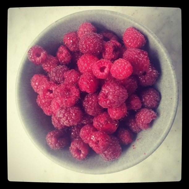 First taste of Marg & Maddies raspberries this year, so delicious! #summermaybe #raspberry #gettingready #theriverstable
