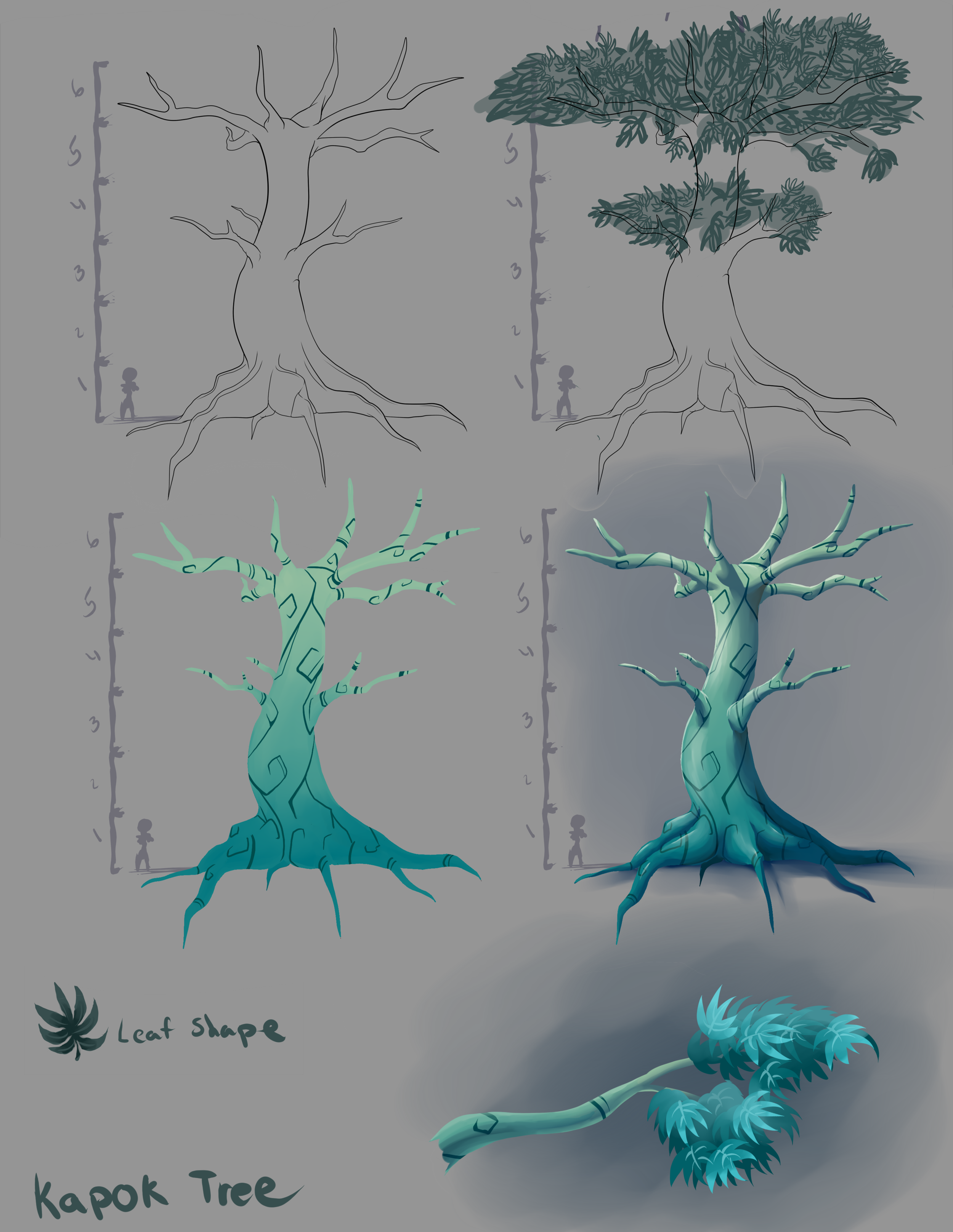 Hero asset based on a Kapok tree.