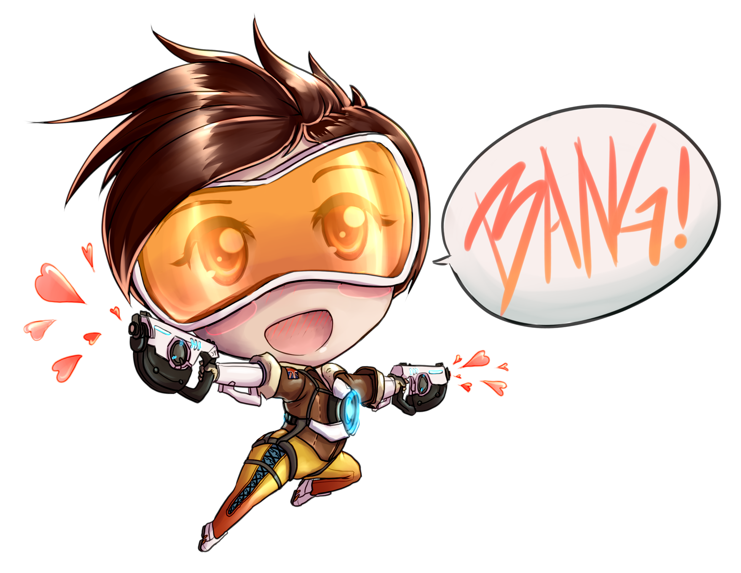Fan Work for Tracer from Overwatch, Blizzard Entertainment