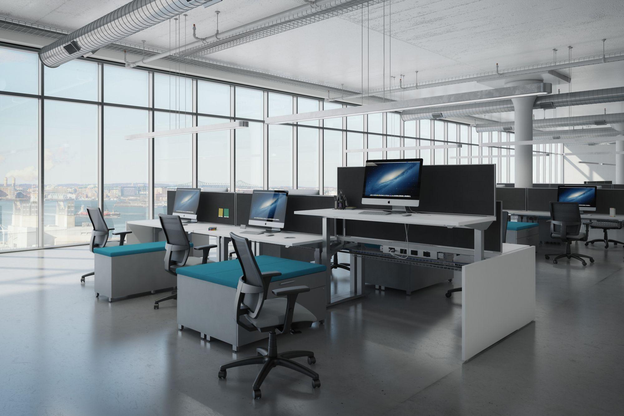AIS Aloft Adjustable Height Sit/Stand Workstations