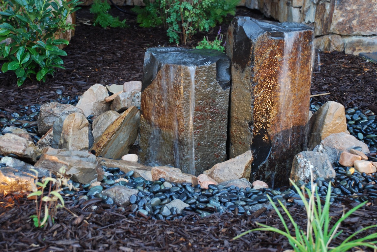Garden water feature.