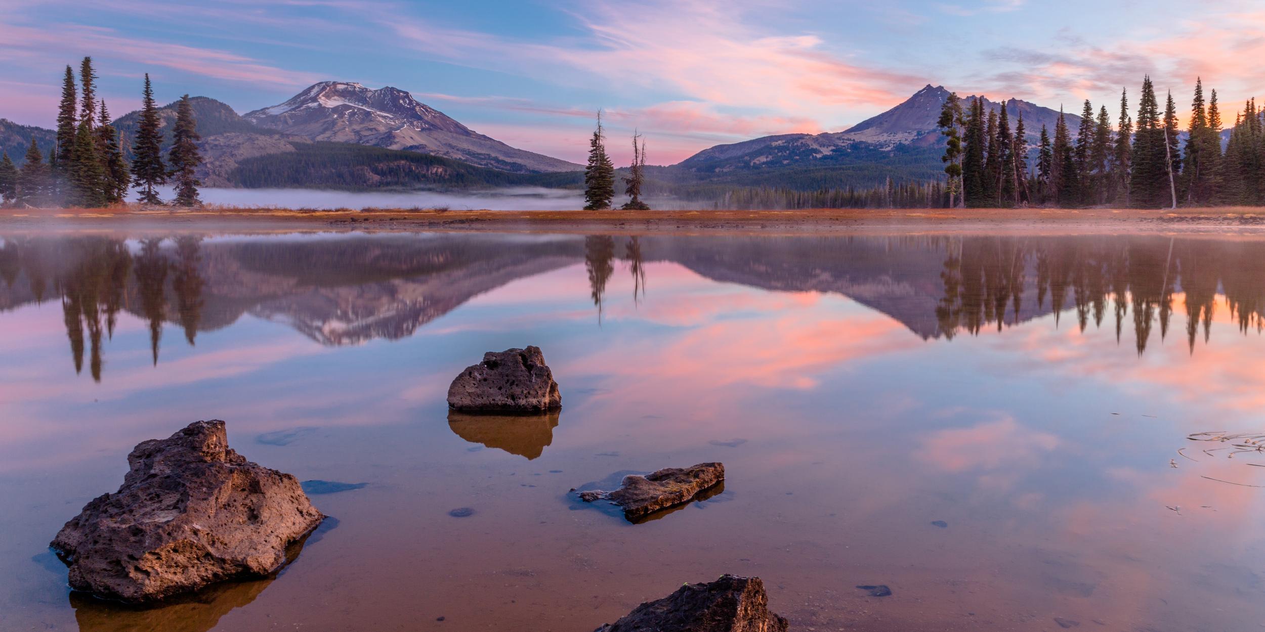 Sparks Lake Reflection