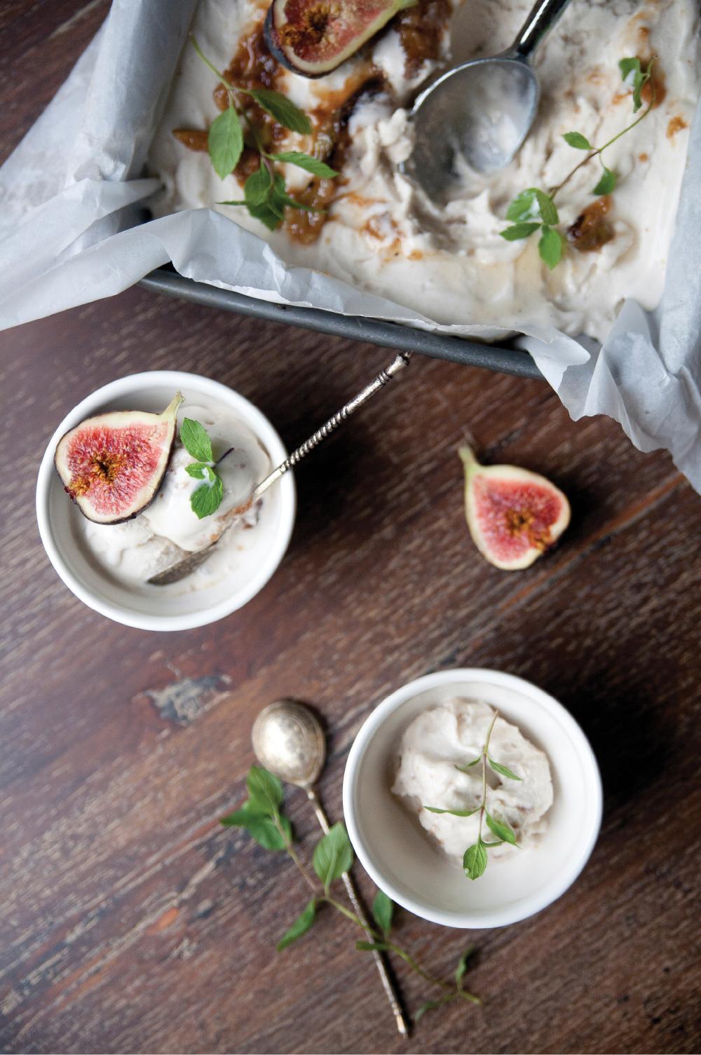 Roasted Honey & Fig Coconut Ice Cream -