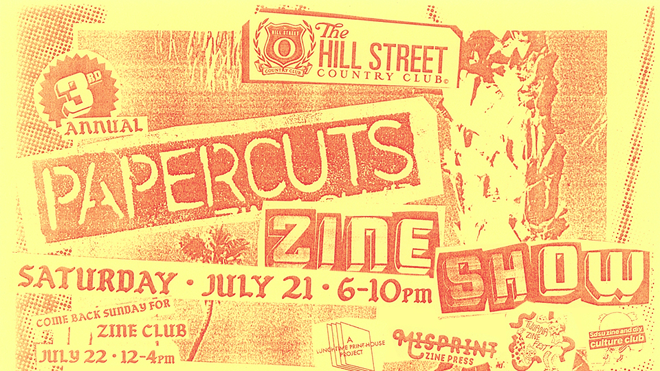 Join us Saturday evening from 6-10pm for the opening of our third annual Papercuts Zine Show where local artists showcase their zines, prints, stickers, buttons and more! Visit us again on Sunday to participate in our monthly zine club meeting. $5 suggested donations, some materials will be provided. Open to all ages and feel free to bring any additional items you need to create your art work!