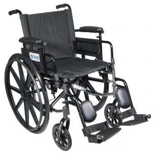 "Mills Pond - Cirrus IV Lightweight Dual Axle Wheelchair with Adjustable Arms, Detachable Desk Arms, Elevating Leg Rests, 18"" Seat"