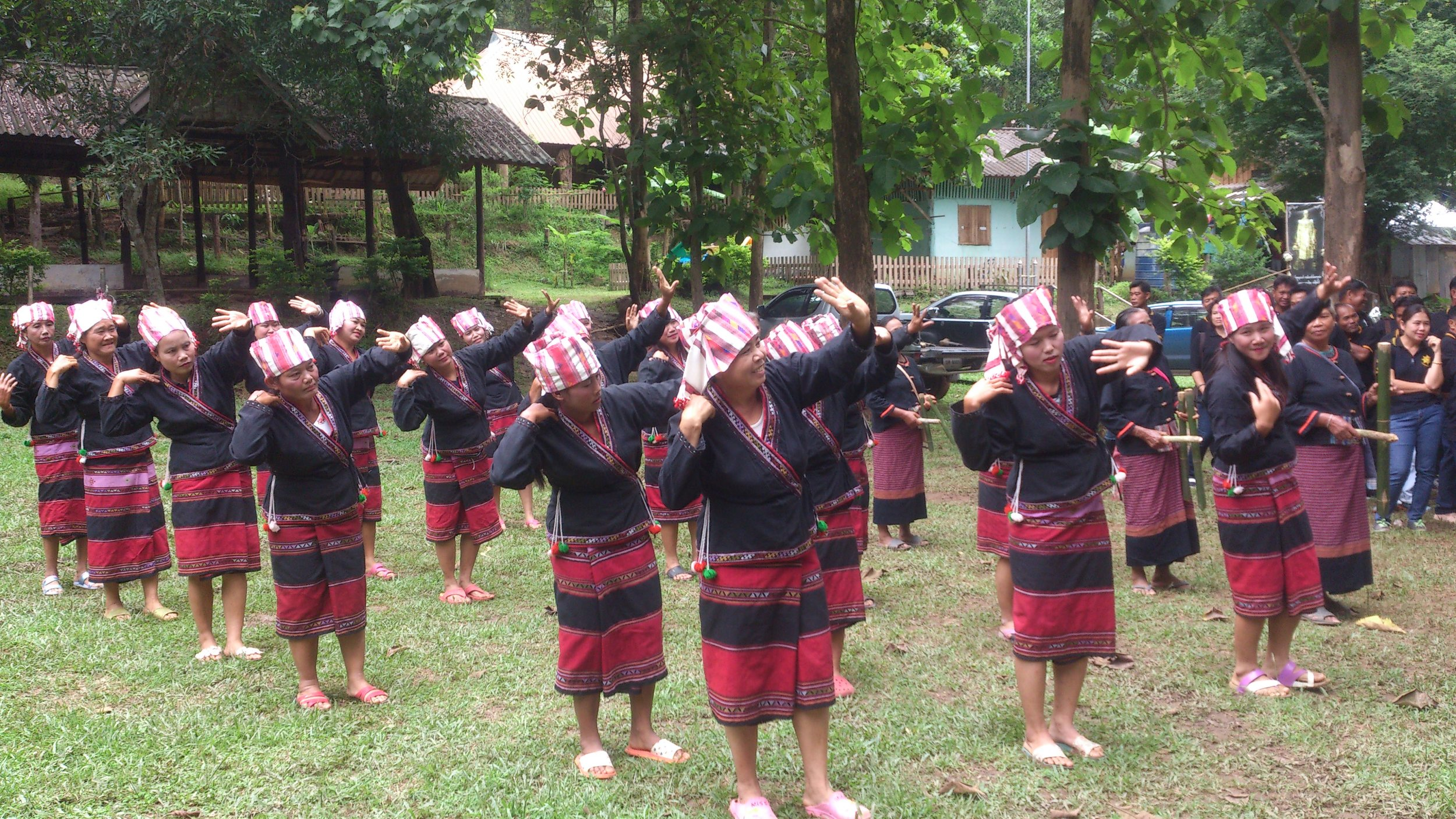 "Local traditional ""Lua"" dance in village"