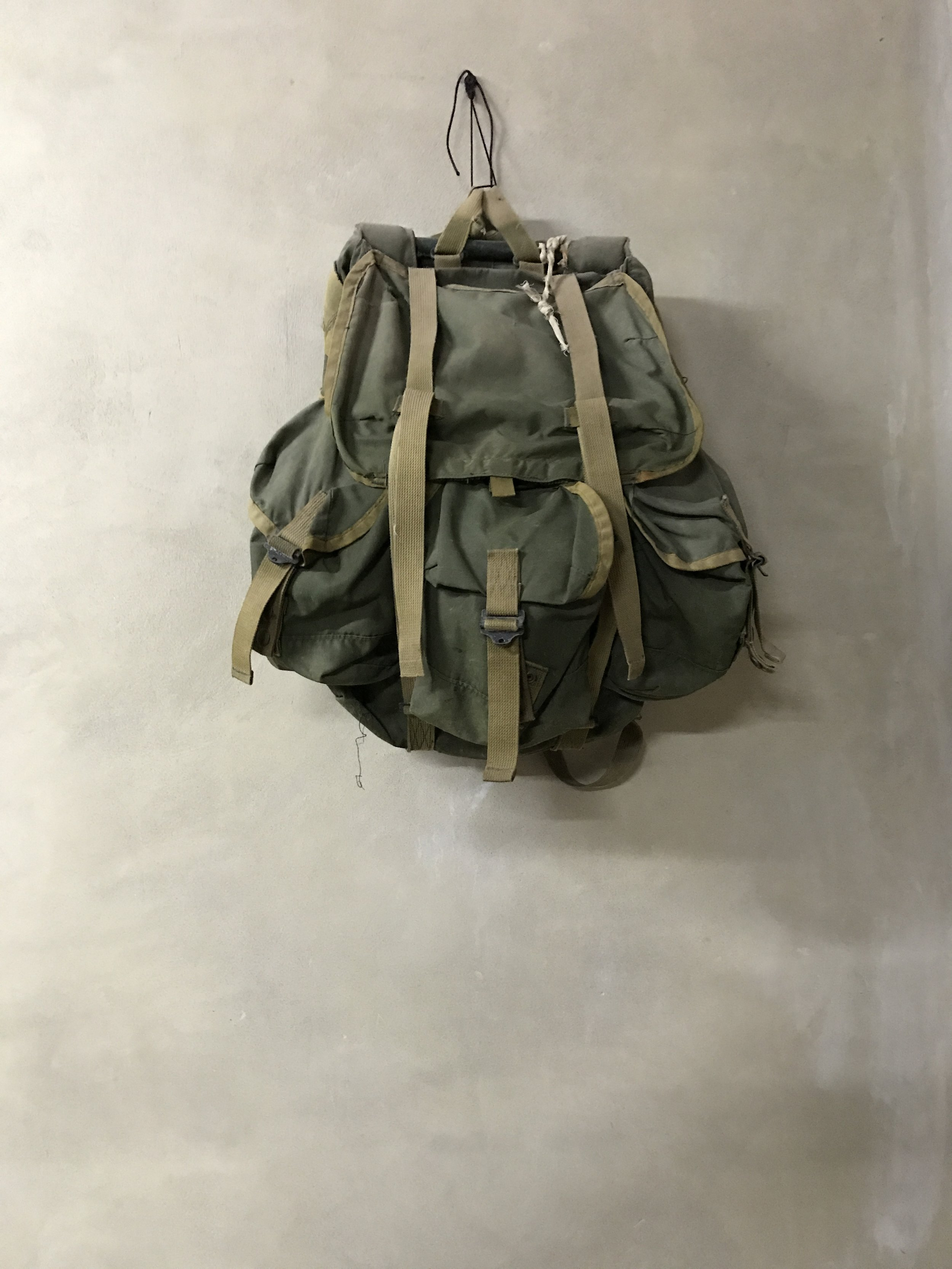 Backpack used by guerrilla