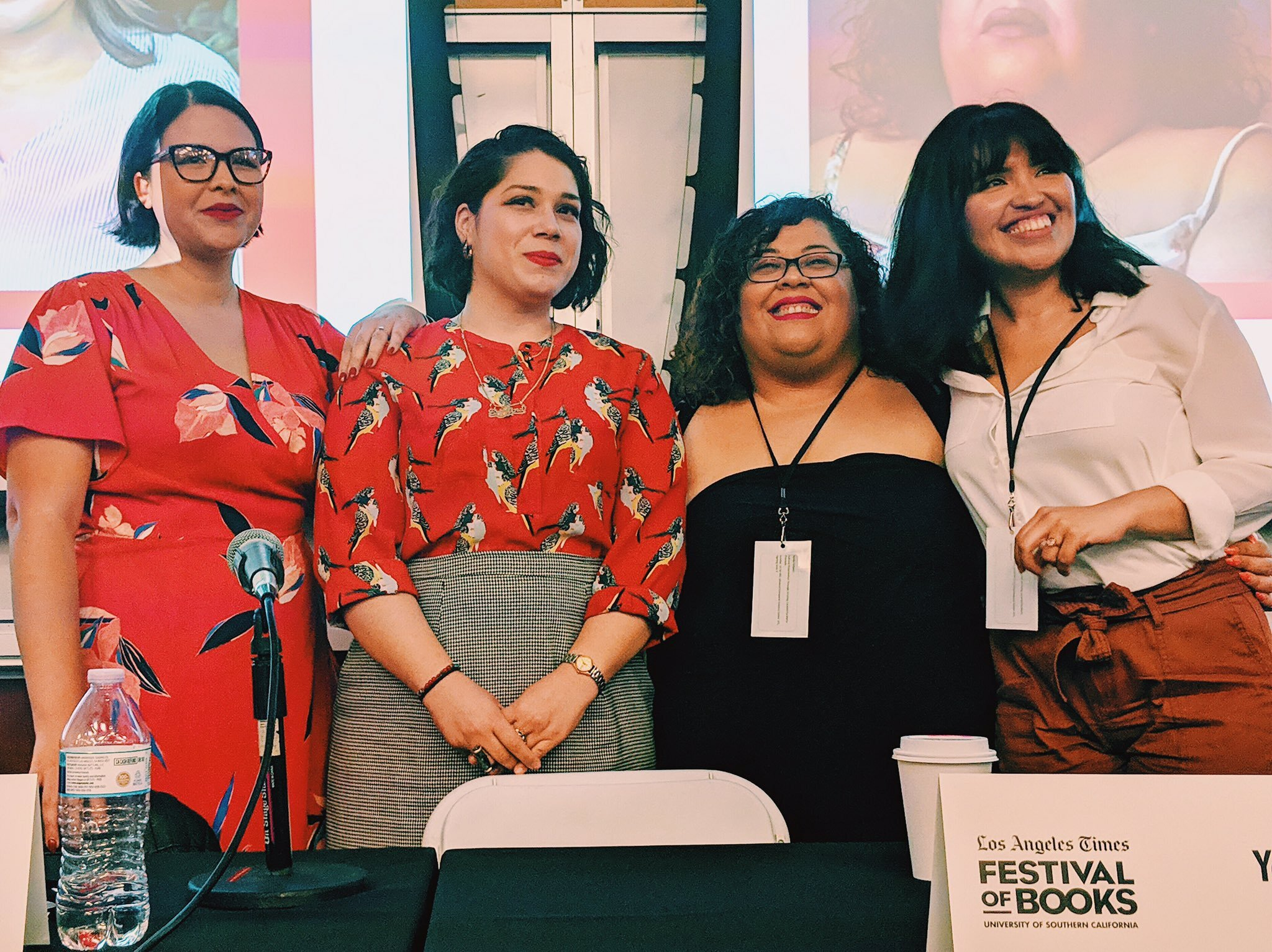 Left to right: Marty Preciado, Yeiry Guevara, Yesika Salgado, Karla T. Vasquez for L.A. Times Festival of Books 2019