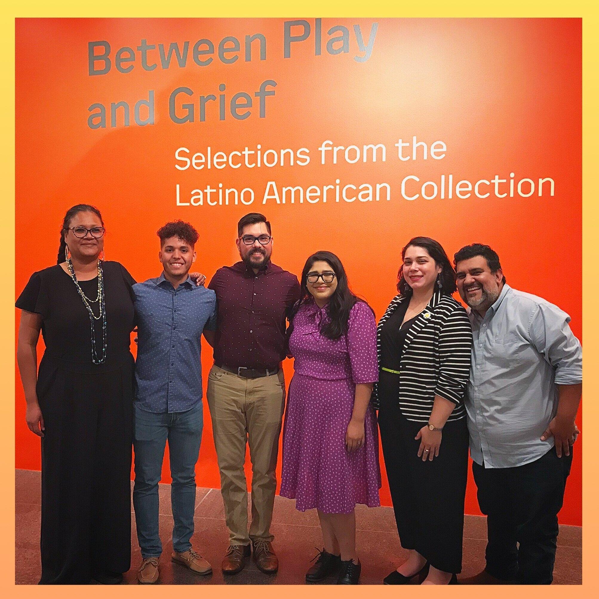 L-R: Natasha Carrizosa, Juan Avalos, Alexander P. Garza, Amanda Ortiz, Yeiry Guevara, Lupe Mendez