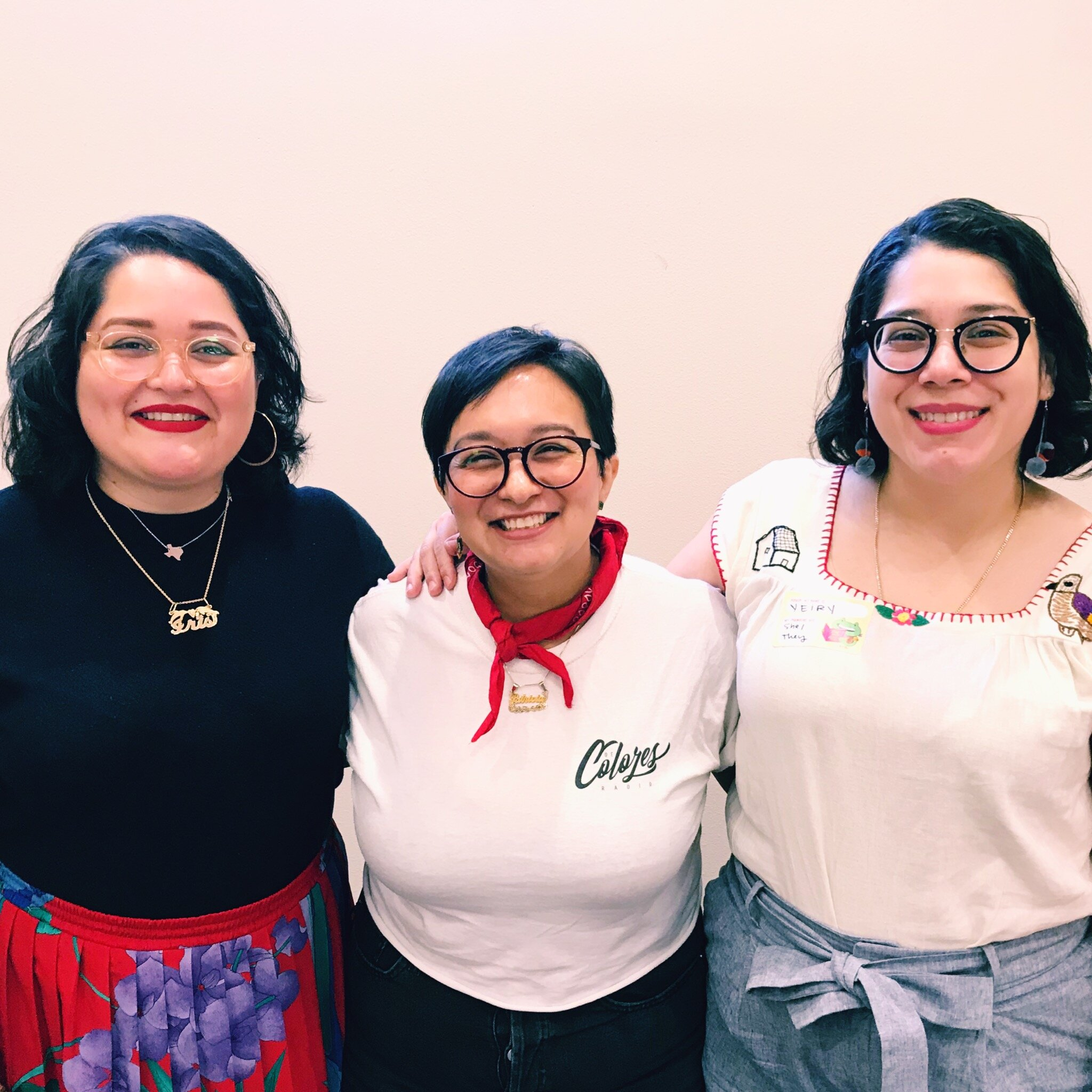 Sister, Pat from De Colores Collective and Me