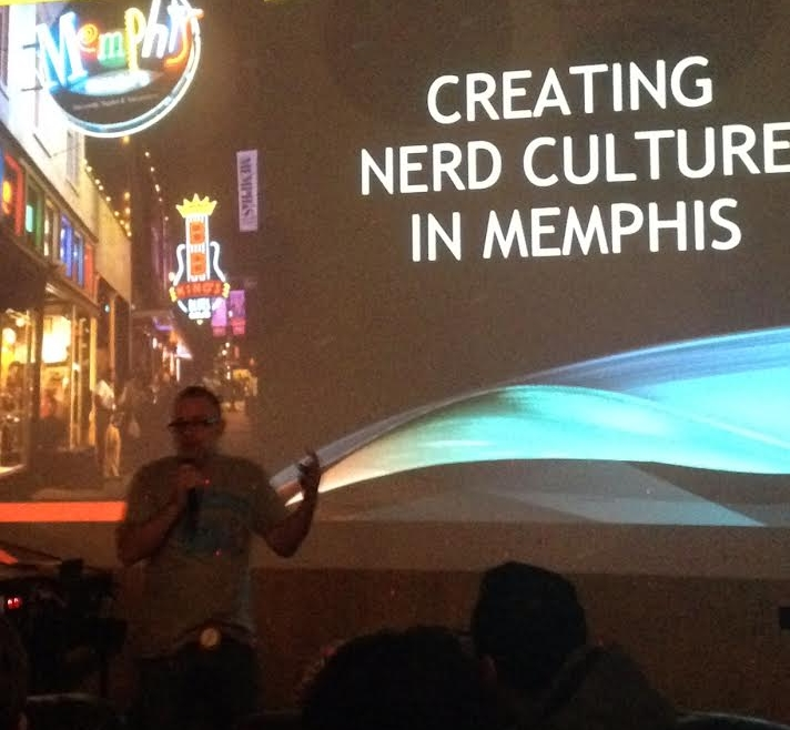 Shannon repping the Nerd901 tee shirt.