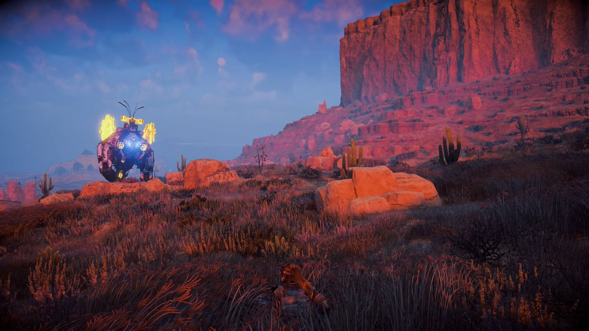 A ThunderJaw intends to make me it's breakfast. I took this picture myself.