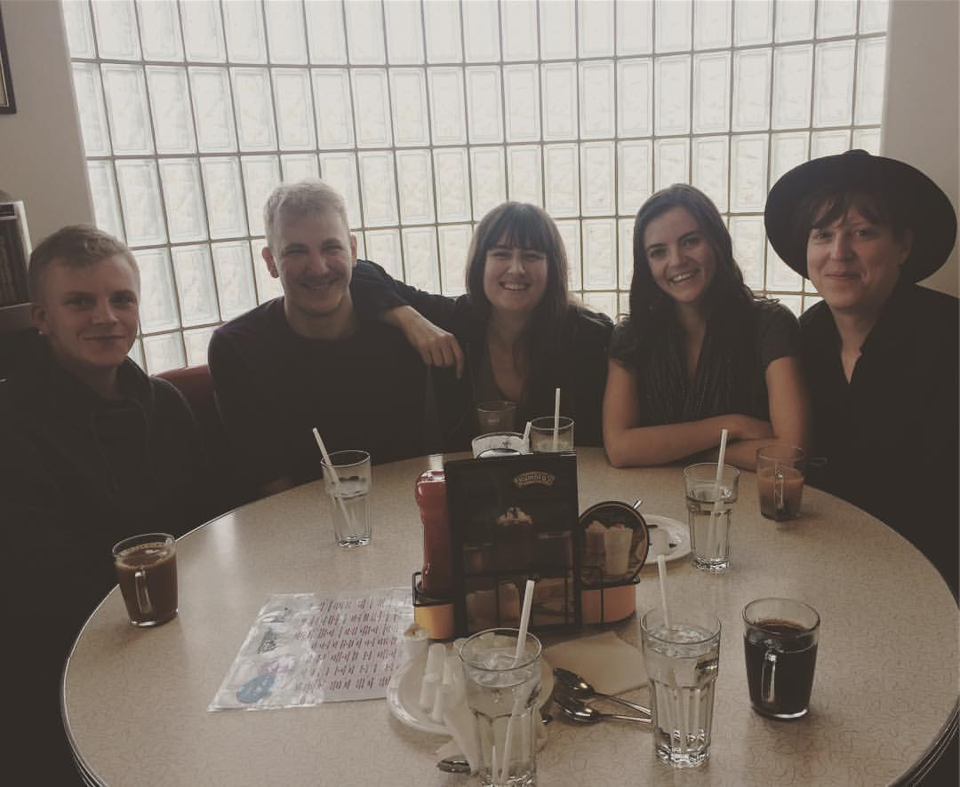 The whole crew brunching at Gasoline Alley.
