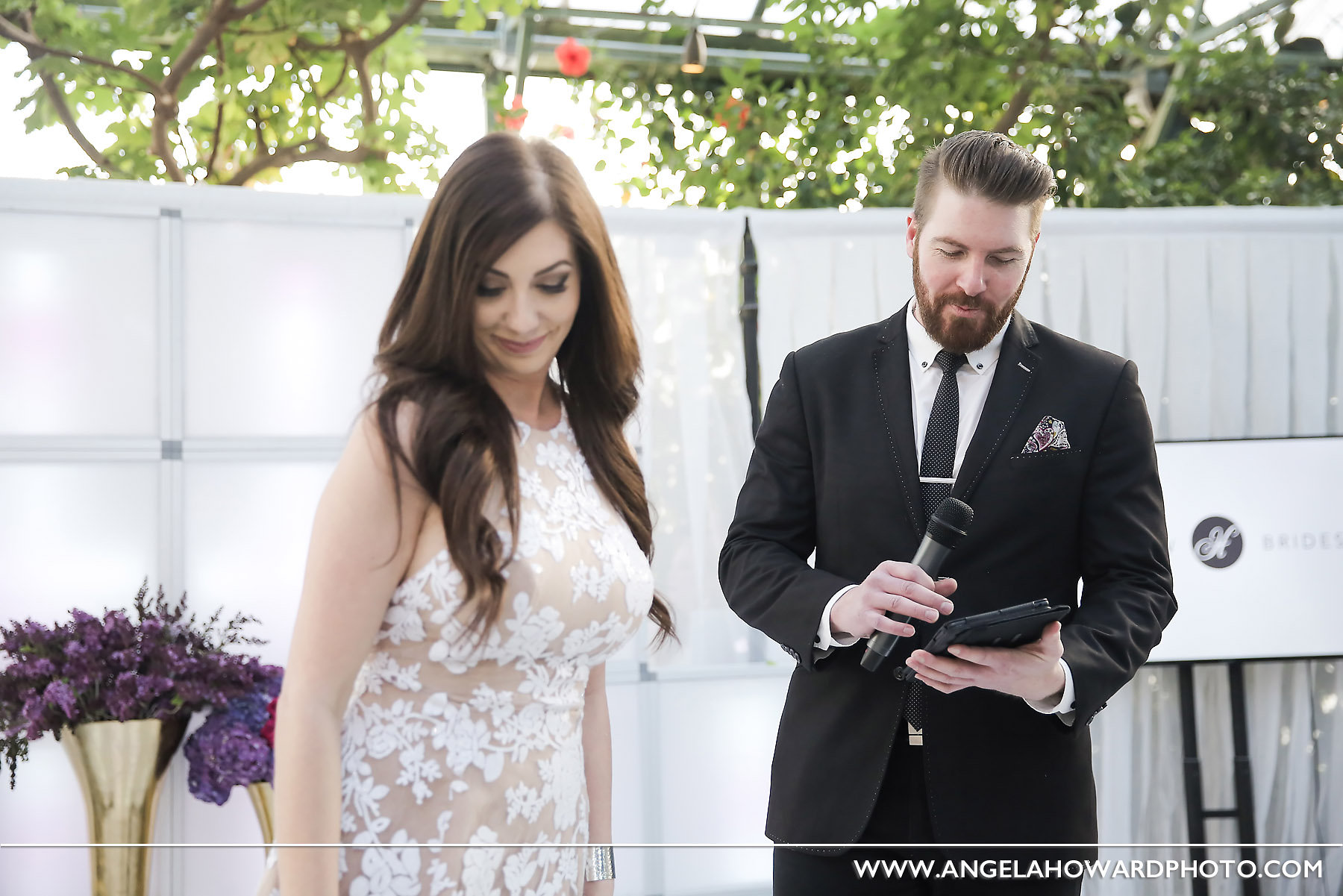 Conn, MC for the night. Mara, event planner extraordinaire. @utahbridemag #UBGWhiteParty Photo credit: Angel Howard Photography
