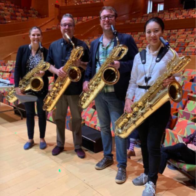 - There will be a rare Bari Sax Quartet during intermission!
